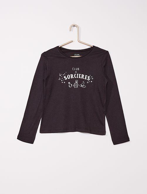 T-shirt imprimé éco-conçu                                                                                                     noir