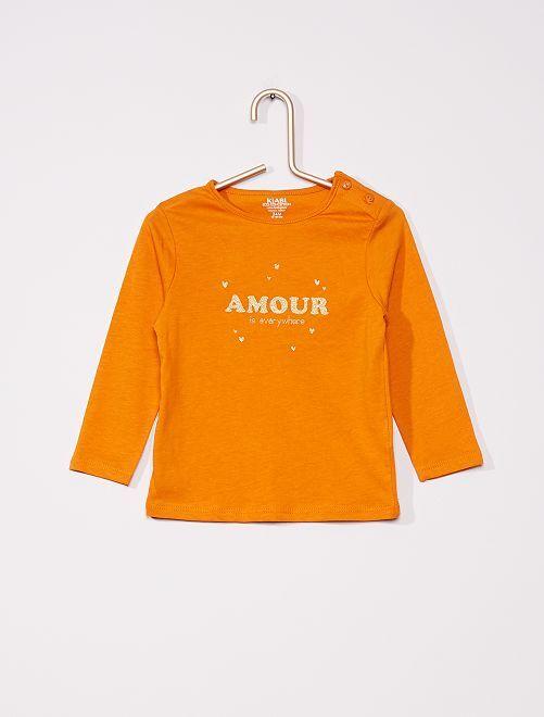 T-shirt imprimé éco-conçu                                                                                         orange