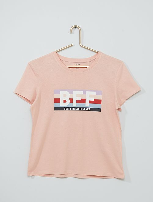 T-shirt imprimé éco-conçu                                                                                                                 rose clair