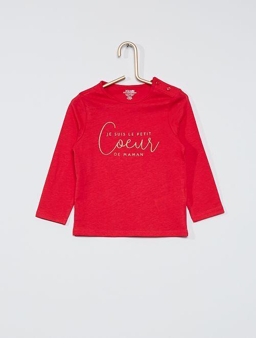 T-shirt imprimé 'éco-conçu'                                                                                                     rose foncé/cœur