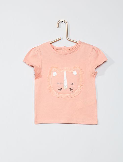 T-shirt imprimé 'éco-conçu'                                                     rose lion