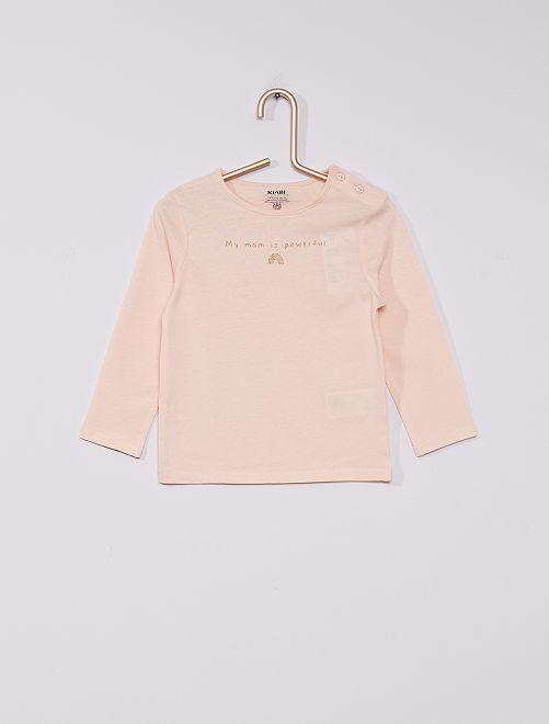 T-shirt imprimé éco-conçu                                                                                                                             rose maman