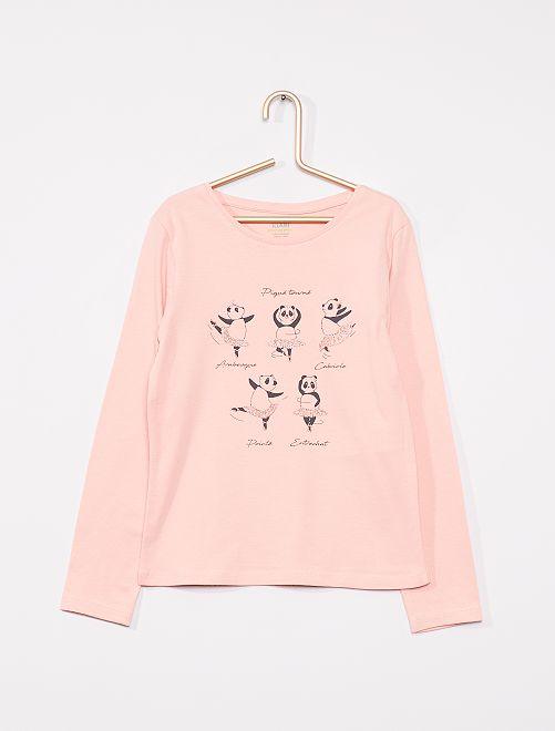 T-shirt imprimé éco-conçu                                                                                                                                                                                                                 rose panda