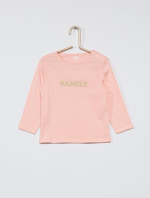 T-shirt imprimé 'éco-conçu'                                                                                                     rose/family
