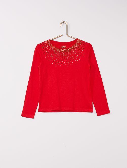T-shirt imprimé éco-conçu                                                                                                                 rouge étoile