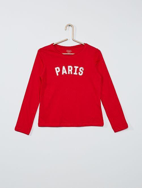 T-shirt imprimé éco-conçu                                                                                                     rouge