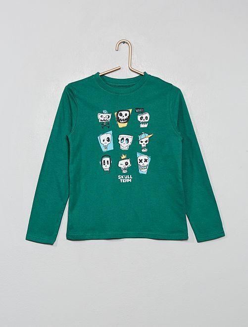 T-shirt imprimé éco-conçu                                                                             vert