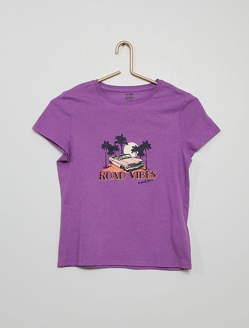 T-shirt imprimé éco-conçu                                                                                                                                                                                                                                                     violet