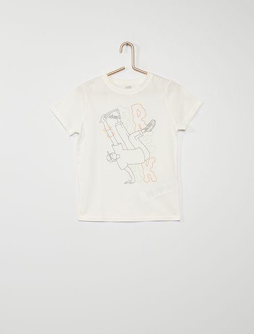 T-shirt imprimé                                                                                                                                         écru breakdance