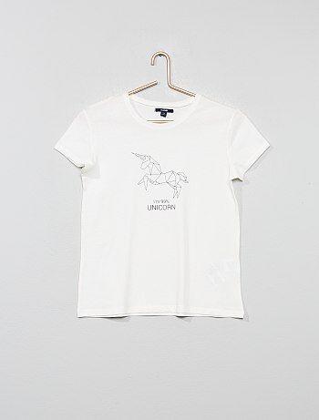 563323f0c1b53 Tee shirt, débardeur Vêtements fille   beige   Kiabi