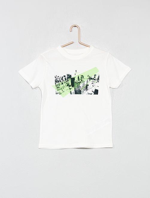 T-shirt imprimé                                                                                                                                                                 écru Garçon