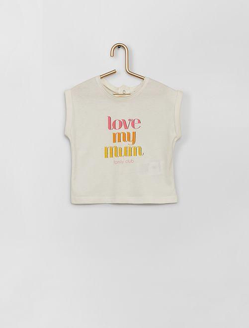 T-shirt imprimé                                                     écru mum