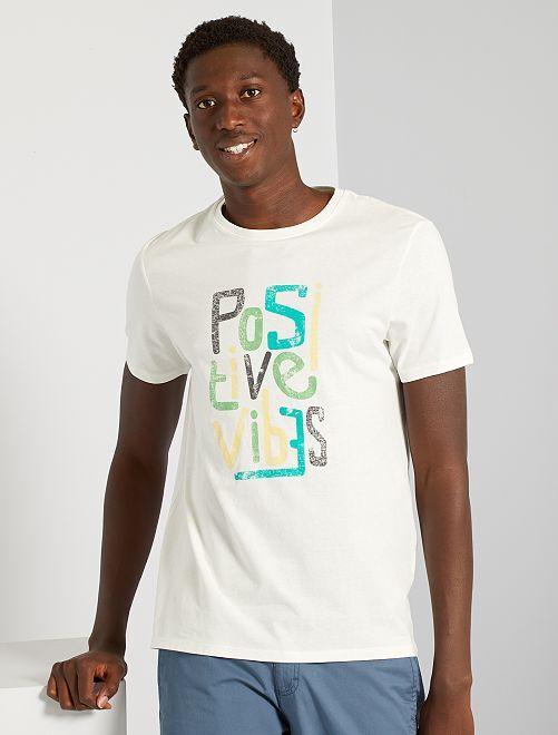 T-shirt imprimé                                                                                         écru/vibe