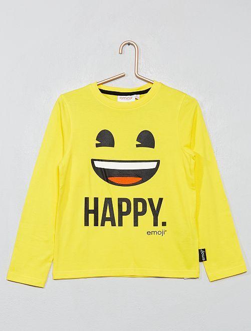 T-shirt imprimé 'Emoji'                                         jaune