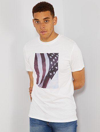 5ec000219c5 T-shirt imprimé en coton bio - Kiabi