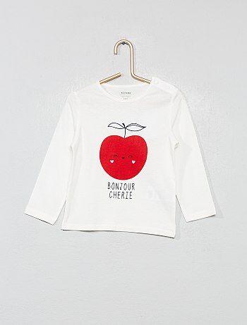 9d36547a62 Fille 0-36 mois - T-shirt imprimé en coton bio - Kiabi