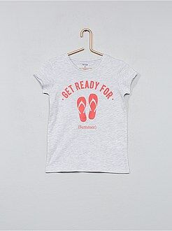 Tee shirt, débardeur - T-shirt imprimé en coton - Kiabi