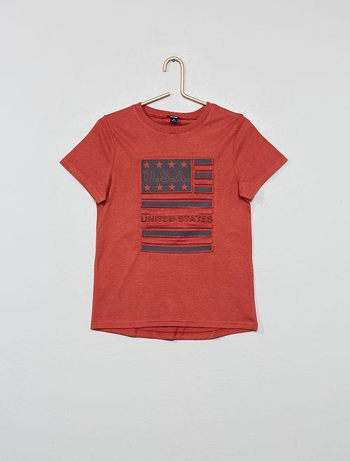 T-shirt imprimé en relief                                                                                                     rouge Garçon