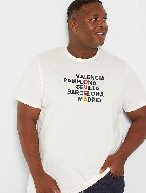T-shirt imprimé Madrid                     écru