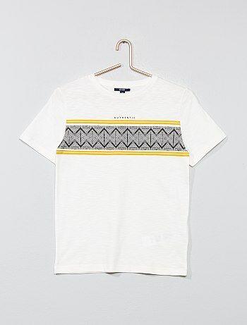0779a0f421c1e Garçon 10-18 ans - T-shirt imprimé  ethnique  - Kiabi