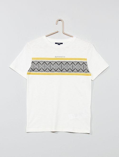 T-shirt imprimé 'ethnique'                             écru Garçon adolescent