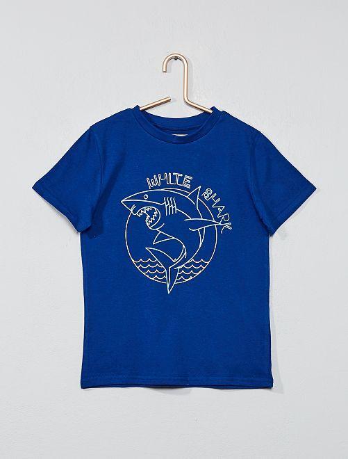 T-shirt imprimé fantaisie                                                                                                                                                                             bleu dur Garçon
