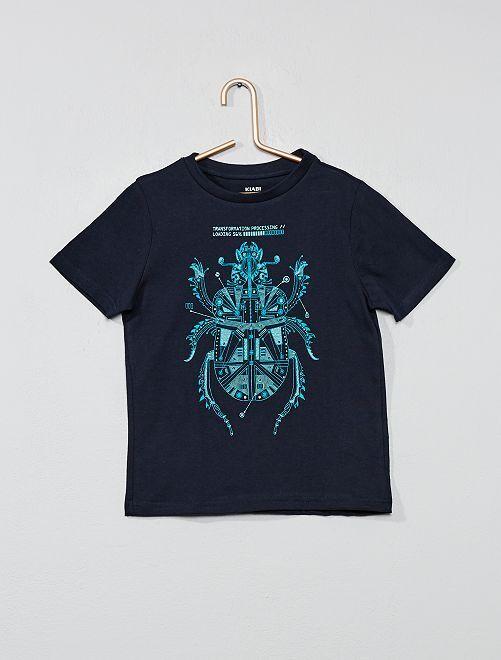 T-shirt imprimé fantaisie                                                                                                                                                                                         bleu marine Garçon