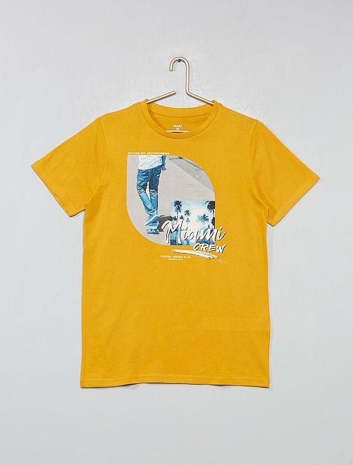 T-shirt imprimé fantaisie                                                                                         jaune
