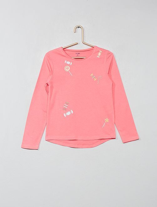 T-shirt imprimé fantaisie                                                                                                                             rose/bonbon Fille