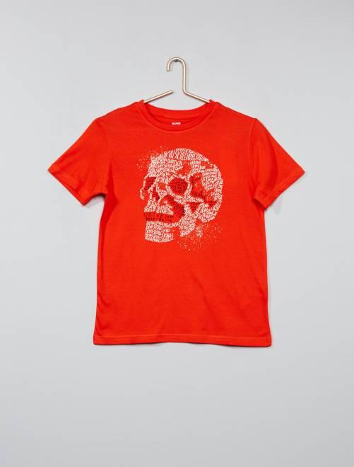 T-shirt imprimé fantaisie                     rouge