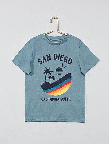 bc3bde2d2f067 Garçon 3-12 ans - T-shirt imprimé fantaisie - Kiabi