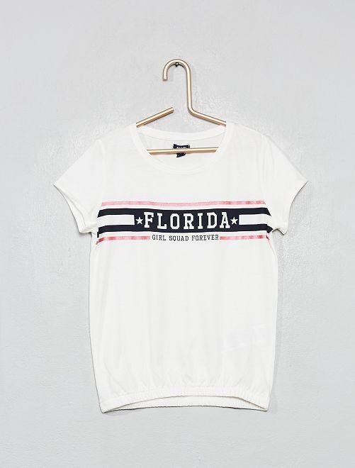 T-shirt imprimé 'Florida'                                                                 blanc