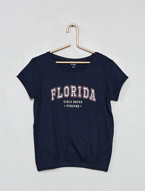 T-shirt imprimé 'Florida'                                                                 bleu