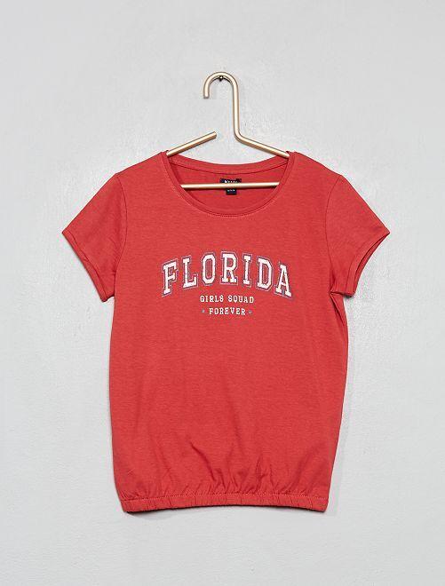 T-shirt imprimé 'Florida'                                                                 rose