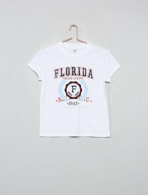 T-shirt imprimé 'Floride'                                                                                         blanc floride