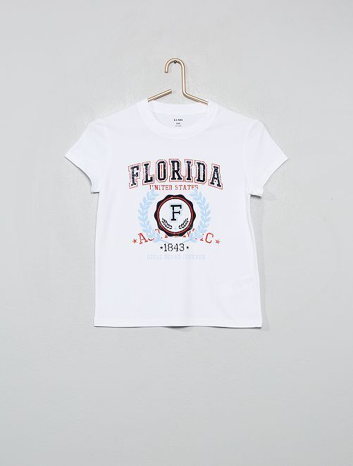T-shirt imprimé 'Maryland'                                                                     blanc floride