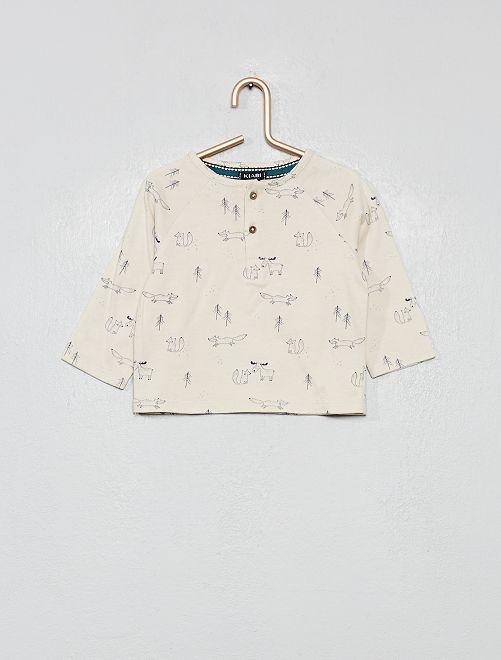 T-shirt imprimé 'forêt'                                         beige imprimé Bébé garçon