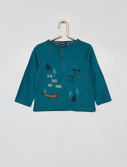 T-shirt imprimé 'forêt'                     vert sapin