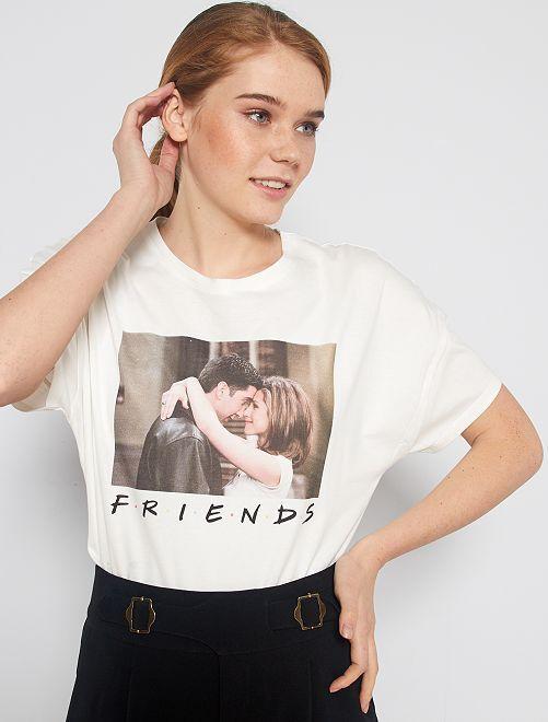 T-shirt imprimé 'Friends'                             blanc