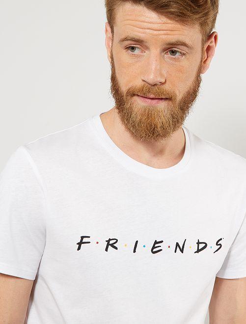 T-shirt imprimé 'Friends'                             blanc Homme