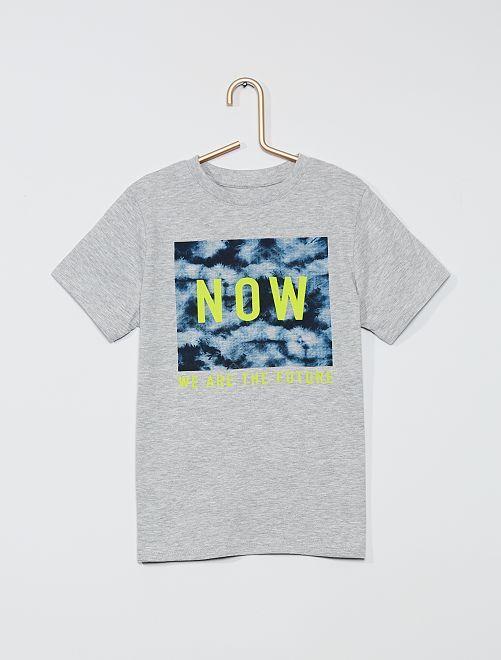 T-shirt imprimé 'futur' 'éco-conception'                                                                                                                                                     gris