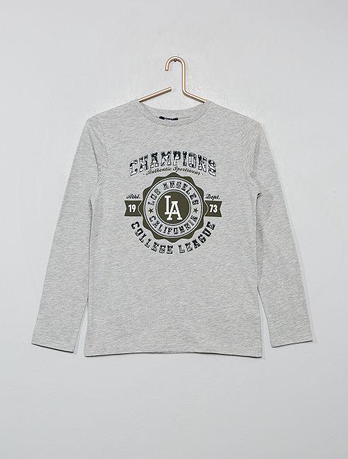 T-shirt imprimé gel                                         gris clair