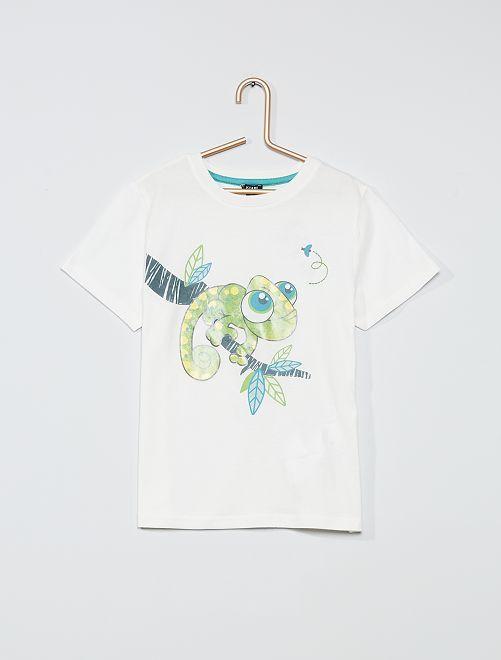T-shirt imprimé 'Grenouille'                                                     blanc