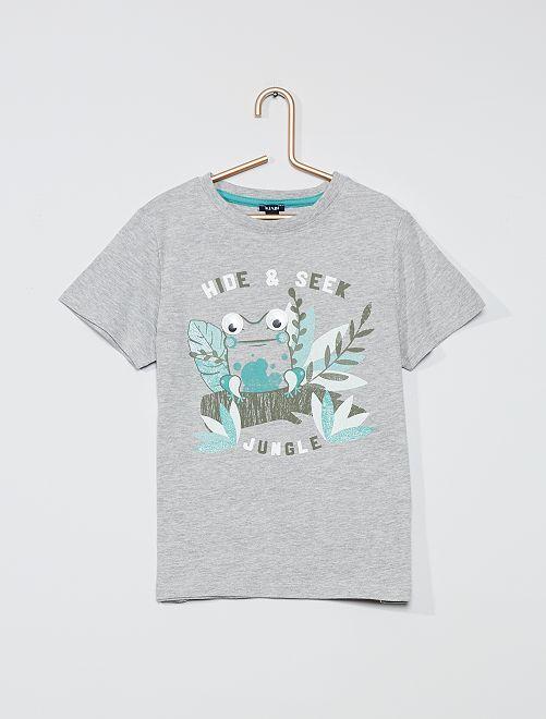 T-shirt imprimé 'Grenouille'                                 gris