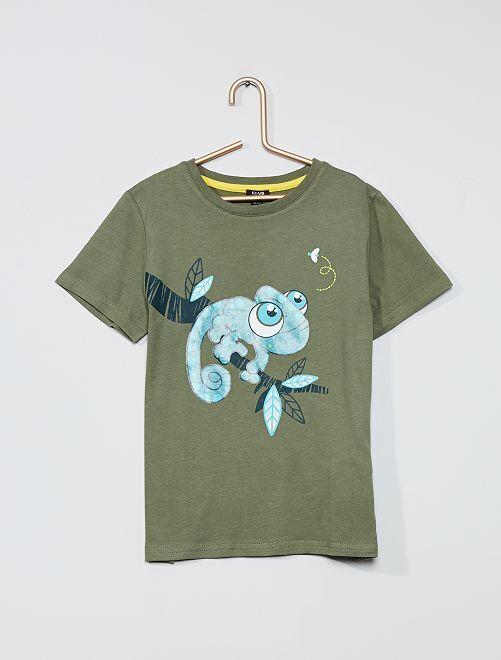 T-shirt imprimé 'Grenouille'                                                     kaki