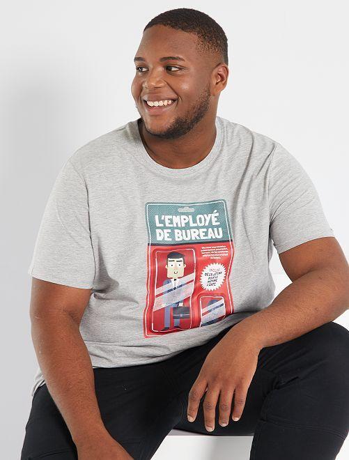 T-shirt imprimé                                                     gris clair/worker