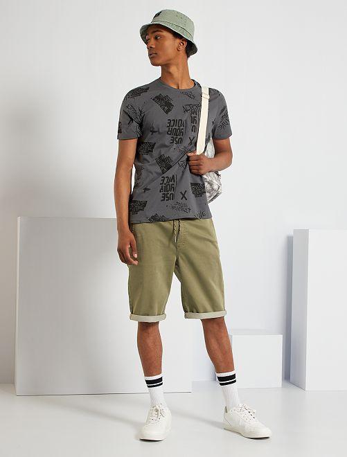 T-shirt imprimé                                                                                                                 gris foncé