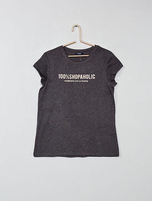 T-shirt imprimé                                                                                                                             gris foncé/shopping Fille adolescente