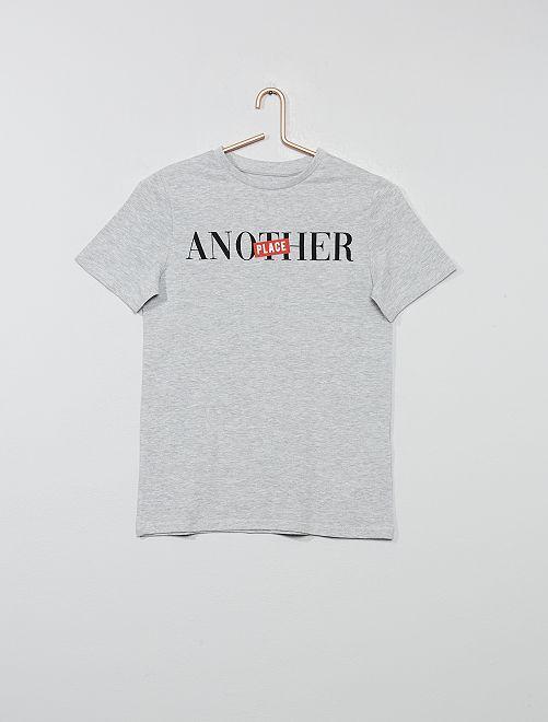 T-shirt imprimé                                                                                                                 gris Garçon adolescent