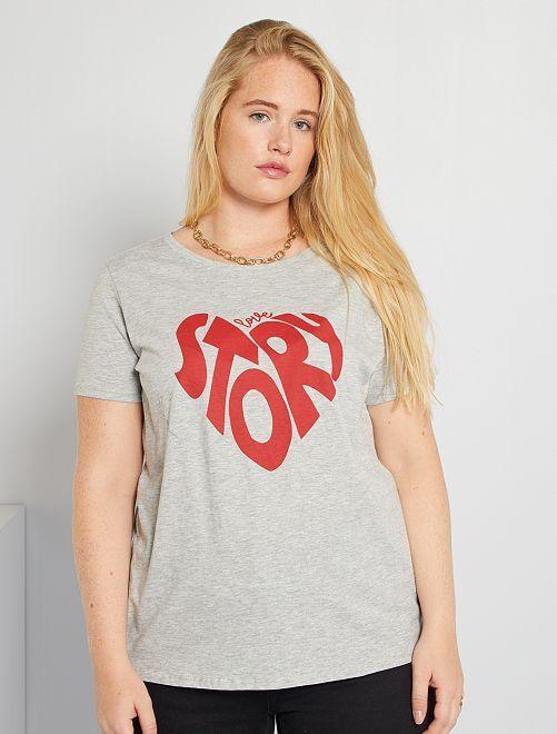 T-shirt imprimé                                                                                                                                                                                                                                                                                                                                                     gris